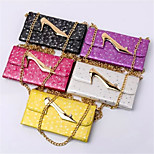 Seventy Percent off Leather Wallet Lace High-Heeled Chain for iPhone 6(Assorted Colors)