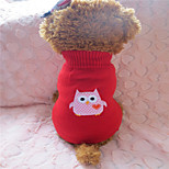 Dog Sweaters - M / L - Winter - Red - Fashion - Mixed Material