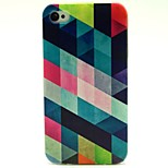 Geometrical Pattern TPU Soft Back Case for iPhone 4/4S