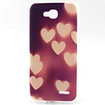Heart Pattern TPU Material Soft Phone Case for LG L90 D405