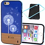 2-in-1 Dandelion Wish Floor Pattern TPU Back Cover with PC Bumper Shockproof Soft Case for iPhone 6