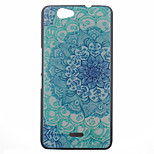 Peacock Flower Pattern PC Hard Case for Wiko Getaway