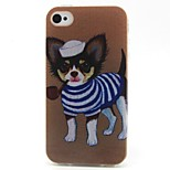 Puppy Pattern TPU Material Soft Phone Case for iPhone 4/4S
