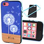 The Dandelion Pattern TPU Plus PC Border Phone Case For iPhone 5C