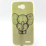 Elephant Pattern TPU Material Soft Phone Case for LG L90 D405
