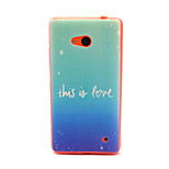 Blue  Pattern TPU Phone Case for Nokia Microsoft Lumia 640