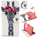 Giraffe Pattern with Card Bag Full Body Case for LG G3