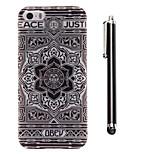 modello girasole TPU indietro morbido e una penna di tocco dello stilo per iPhone 5 / 5s