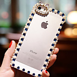 Diamond Pearl Transparent Pattern Hard Back Case for iPhone4/4S