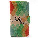 Court  Pattern PU Leather Phone Case For iPhone 4/4S