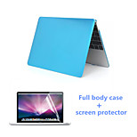 2 in 1 PVC Full Body Hard Case and HD Screen Protector for Macbook Air 11.6 inch (Assorted Colors)