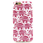 Red Elephant Pattern TPU Material Phone Case for iPhone 6