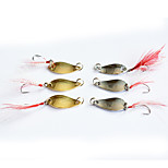6PCS 2.5g/3.5g Metal Fishing Bait Lures with Hook