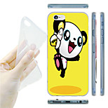 Cartoon Panda and Banana Pattern TPU Soft Back Case for iPhone 6