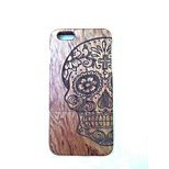 Skull Head Back Cover Solid Wood Protective Shell for iPhone 6 Plus