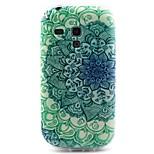 grüne Blumen-Muster-TPU Material weich Telefonkasten für Samsung-Galaxie S3 i8190 mini