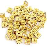 25PCS Rhinestone Rondelle Beads Jewellery Jewelry Spacer
