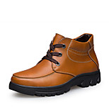 Bigs Size 38-50 Warm Men's Shoes Outdoor / Office & Career / Athletic / Casual Leather Boots Black / Brown / Yellow