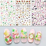 3PCS Water Transfer Printing Nail Stickers 789#