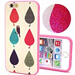 2-in-1 Bling Bling Leaves Pattern PC Back Cover with PC Bumper Shockproof Hard Case for Apple iPhone 6 Plus