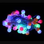 50-LED 9M Waterproof Outdoor Christmas Holiday Decoration RGB Light LED String Light (AC220V)