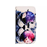 erityinen muotoilu grafiikka pu nahka flip ja korttipaikan matkapuhelimen kotelo galaksi A7 / a5 / a3