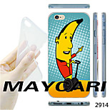 MAYCARI®Banana Sir Pattern TPU Soft Transparent Back Case for iPhone 6