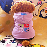 Holdhoney Pink/Purple Four Feet Conjoined Polar Fleece Hoodies For Pets Dogs (Assorted Sizes, Colors) #LT15050150