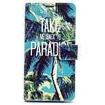 Coconut Tree Pattern PU Leather Full Body Case with Card Slot and Stand for iPhone 6
