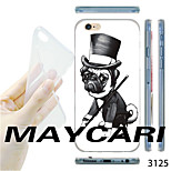 MAYCARI®Gentleman Pug Pattern TPU Soft Transparent Back Case for iPhone 6