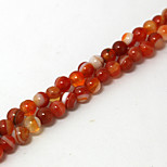 Beadia 39Cm/Str (Approx 95PCS) Natural Agate Beads 4mm Round Stone Loose Beads DIY Accessories