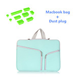 Solid Colors Handle Zipper Sleeve bag with Silicone Dust Plug for Macbook Pro 13.3
