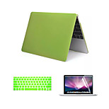 Matte Style 3 in 1 Full Body Case with Keyboard Cover and Screen Protector for New Macbook Retina 12
