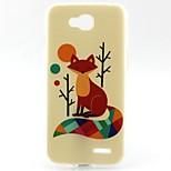 Fox Pattern TPU Material Phone Case for LG L90 D405