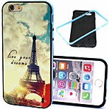 2-in-1 Dream Tower Pattern TPU Back Cover with PC Bumper Shockproof Soft Case for iPhone 6