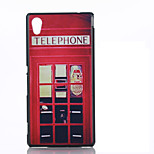 Red Pavilion Pattern Material TPU Soft Phone Case for Sony M4