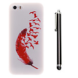 Fly Freely Pattern TPU Soft Back and A Stylus Touch Pen for iPhone 5/5S