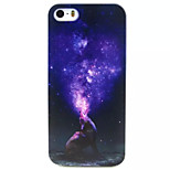 Howl Star Pattern TPU Painted Soft Back Cover for iPhone 5/5S