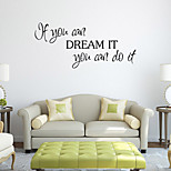 Wall Stickers Wall Decals Style If You Can English Words & Quotes PVC Wall Stickers