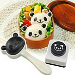 Lovely Panda Sushi Rice Ball Mould Seaweed Cutter Mashed Potato Mold DIY Set of 2