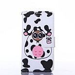 Black and White Pattern PU Leather Full Body Case with Stand for Sony Z3
