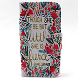 Safflower  Pattern PU Leather Phone Case For iPhone 4/4S