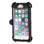 Waterproof & Dustproof & Drop Resistant Protective Case with 360 Degree Rotation Holder for iPhone 6 (Black)