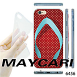 MAYCARI®White Dots Flip-flops Pattern Transparent TPU Soft Back Case for iPhone 6