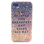 Glitter Breakfast Pattern PC Material Phone Case for iPhone 4/4S