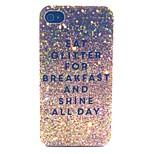 glitter Frühstück Muster PC-Material Telefonkasten für iphone 4 / 4s