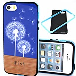 2-in-1 Dandelion Wish Floor Pattern TPU Back Cover with PC Bumper Shockproof Soft Case for iPhone 5/5S