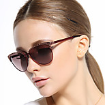 Women 's 100% UV400 Browline Sunglasses