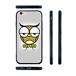 Tired Owl Pattern Transparent Silica Gel Edge Back Case for iPhone 6
