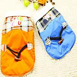 neue Design-Haustierkleid Orange Baumwollmäntel für Hunde